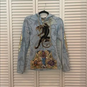 Christian Audigier Zip Up Hoodie Size XS